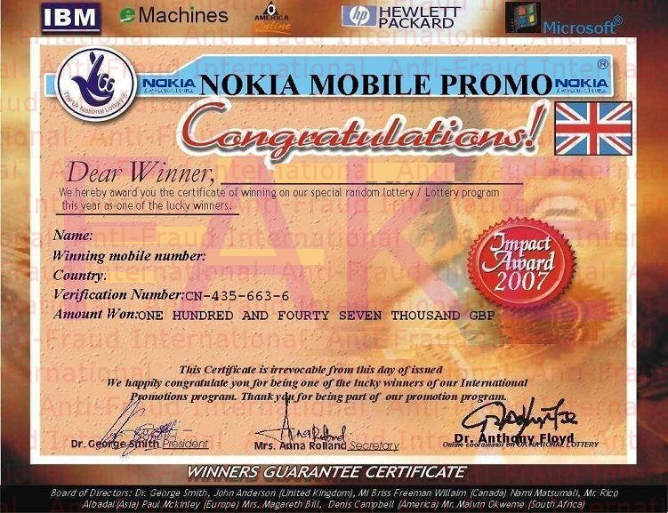 fake sweepstakes cyberlaw july 2011 5255